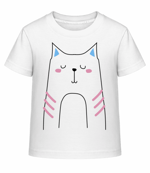 Cute Cat - Kid's Shirtinator T-Shirt - White - Vorn