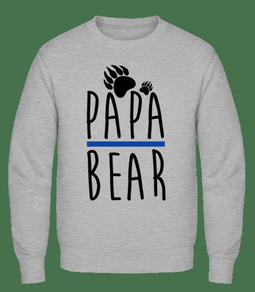 Papa Bear - Classic Set-In Sweatshirt - Heather Grey - Vorn