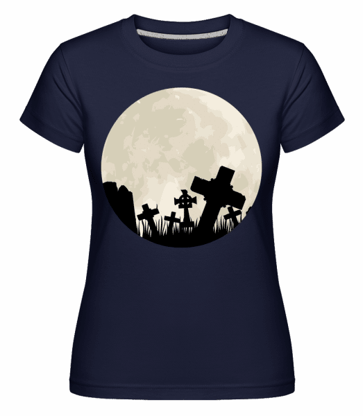 Gothic Scenery Circle -  Shirtinator Women's T-Shirt - Navy - Front