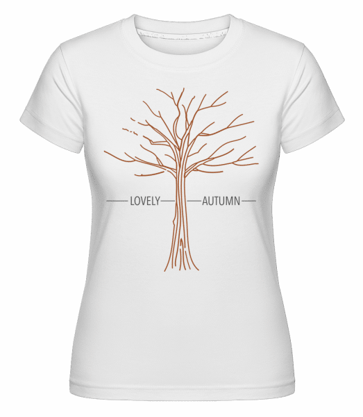Lovely Autumn -  Shirtinator Women's T-Shirt - White - Vorn