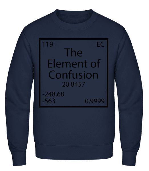 The Element Of Confusion - Classic Set-In Sweatshirt - Navy - Vorn