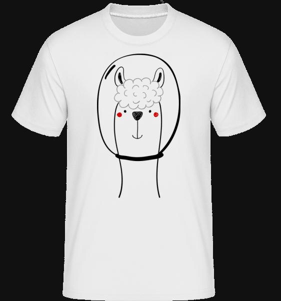 Space Lama -  Shirtinator Men's T-Shirt - White - Vorn