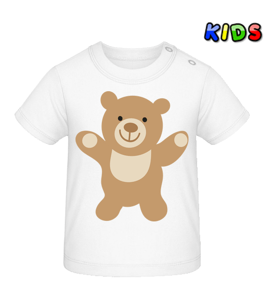 Kids Comic - Bear - Baby T-Shirt - White - Vorn