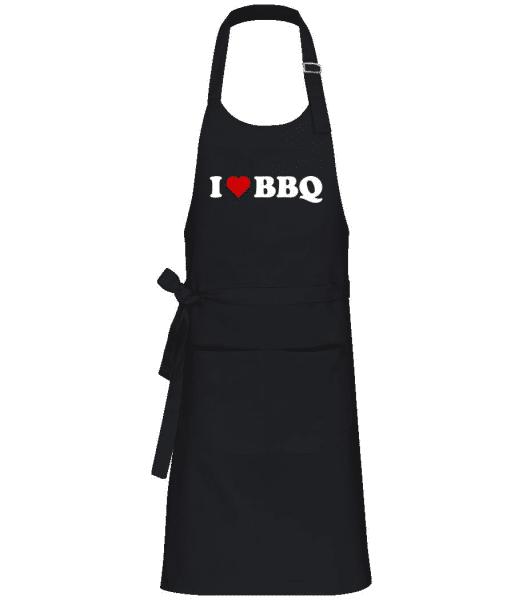 I Love BBQ - Professional Apron - Black - Front