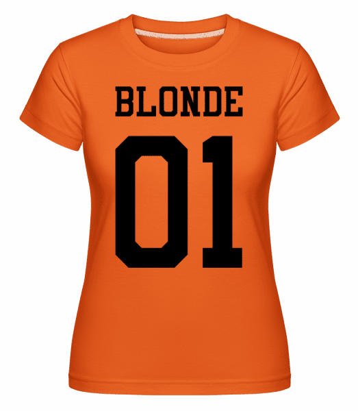 Blonde 01 -  Shirtinator Women's T-Shirt - Orange - Vorn