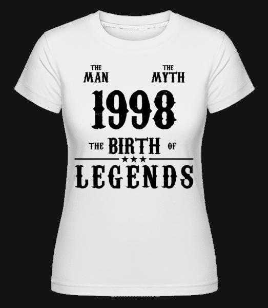 The Myth 1998 -  Shirtinator Women's T-Shirt - White - Vorn