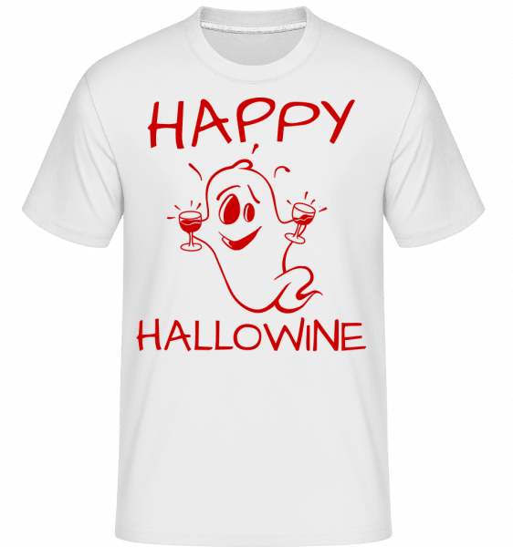 Happy Halloween Ghost -  Shirtinator Men's T-Shirt - White - Vorn