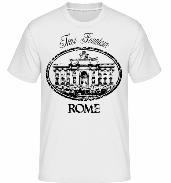 Rome Italy -  Shirtinator Men's T-Shirt - White - Vorn