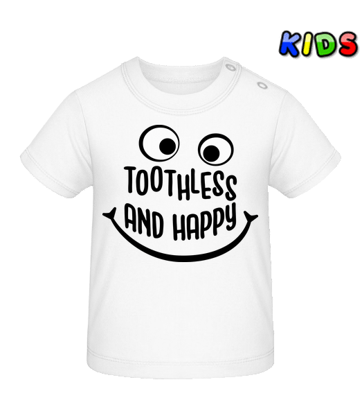 Toothless And Happy - Baby T-Shirt - White - Vorn