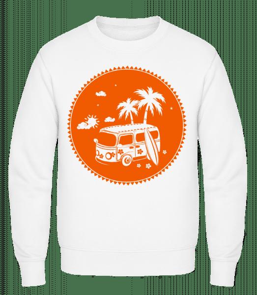Holiday Icon Orange - Classic Set-In Sweatshirt - White - Vorn