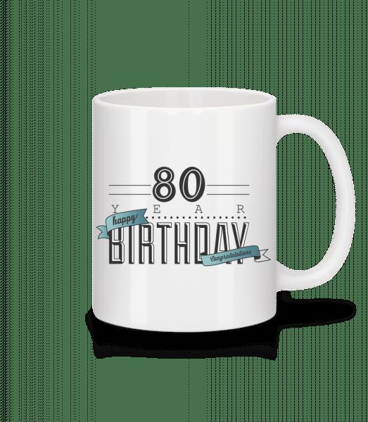 80 Birthday Sign - Mug - White - Vorn