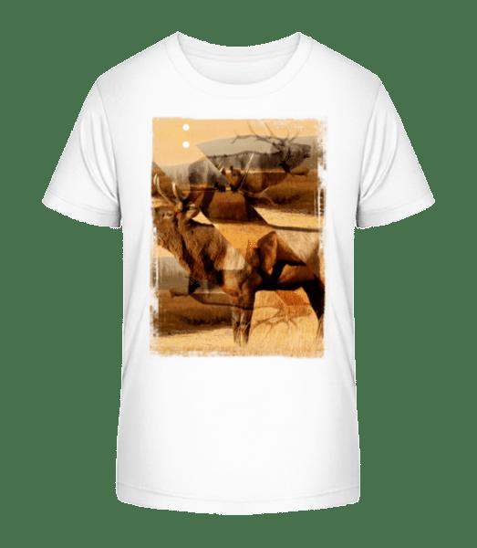 Deer Creative - Kid's Premium Bio T-Shirt - White - Vorn