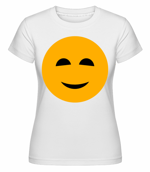 šťastný Smiley -  Shirtinator tričko pre dámy - Biela - Predné