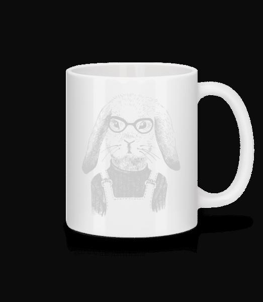 Hipster Rabbit - Mug - White - Vorn