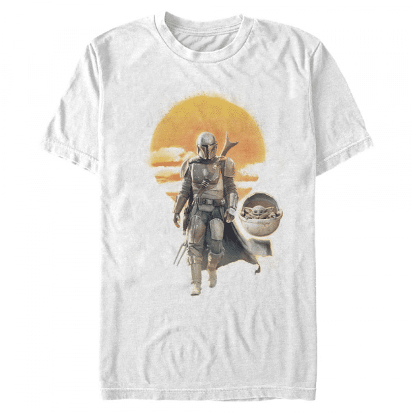 Mando Child Walk The Child - Star Wars Mandalorian - Men's T-Shirt - White - Front