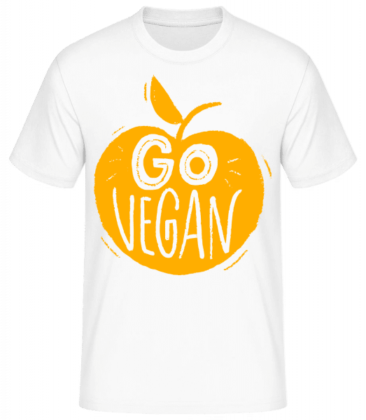 Go Vegan - Basic T-Shirt - White - Vorn