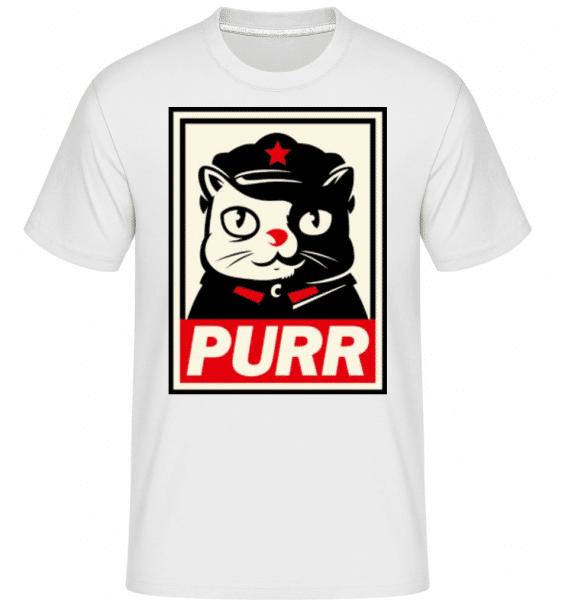 Purr -  Shirtinator Men's T-Shirt - White - Front