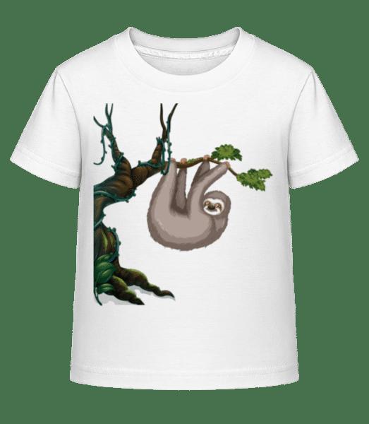 Sloth Hanging On A Tree - Kid's Shirtinator T-Shirt - White - Vorn