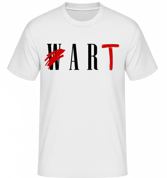 Art Not War -  T-Shirt Shirtinator homme - Blanc - Devant