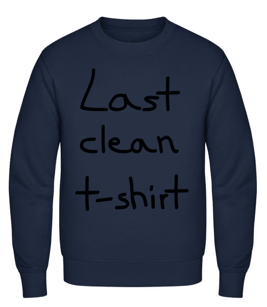 Last Clean T-Shirt - Classic Set-In Sweatshirt - Navy - Vorn