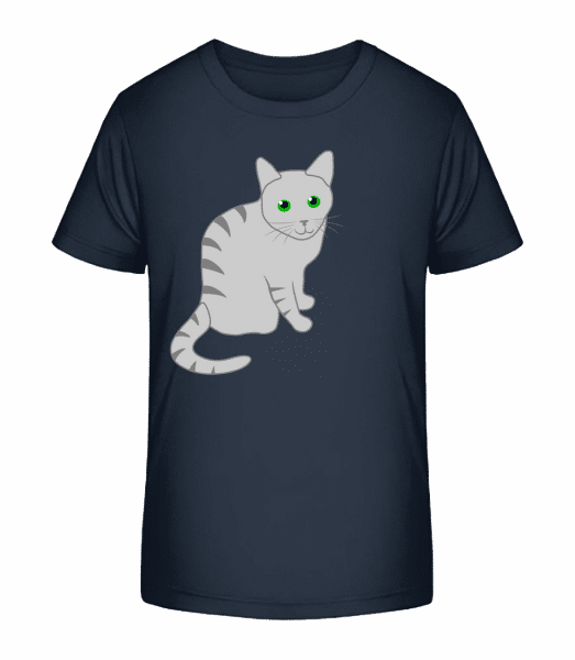 Kitty - Kid's Premium Bio T-Shirt - Navy - Front