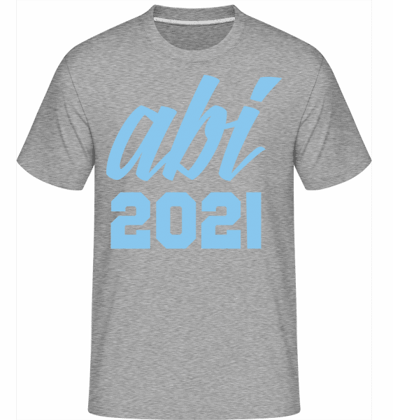 Abi 2021 - Shirtinator Männer T-Shirt - Grau meliert - Vorn