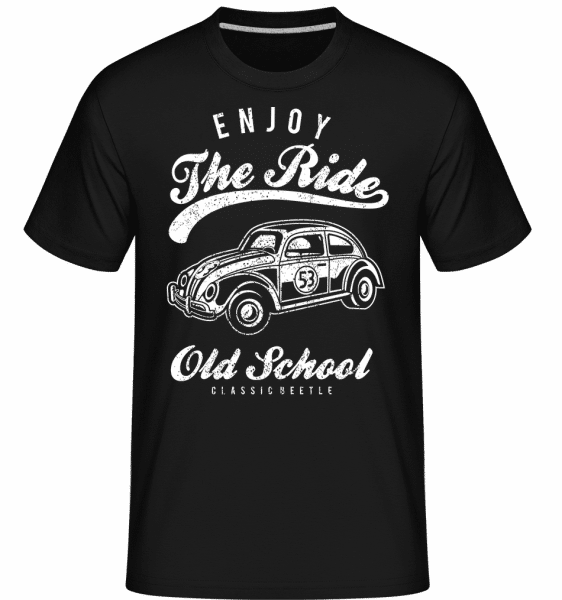 Enjoy The Ride - Shirtinator Männer T-Shirt - Schwarz - Vorn