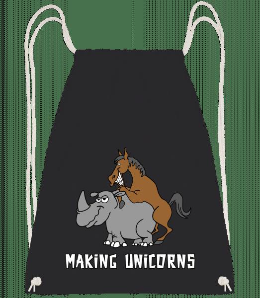 Making Unicorns - Drawstring Backpack - Black - Vorn