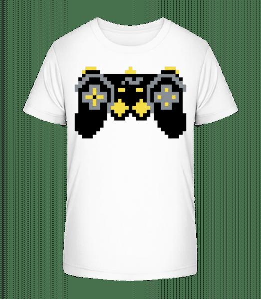 Consoles Controller Oldschool - Kid's Premium Bio T-Shirt - White - Front
