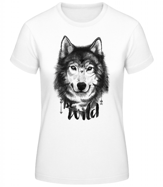 Be Wild - Women's Basic T-Shirt - White - Vorn