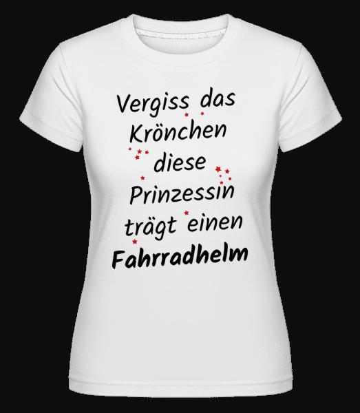 Prinzessin Trägt Fahrradhelm - Shirtinator Frauen T-Shirt - Weiß - Vorn