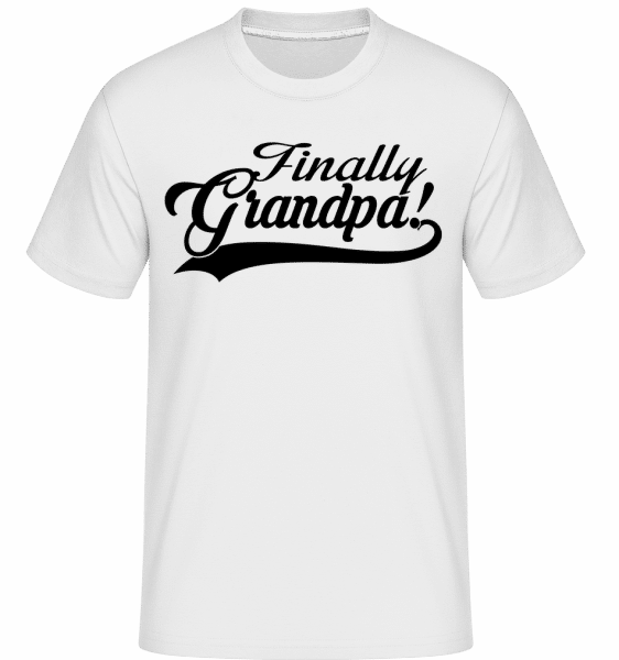 Finally Grandpa - Shirtinator Männer T-Shirt - Weiß - Vorn