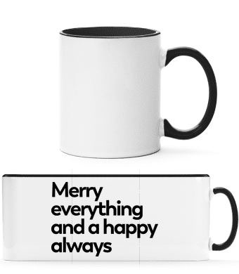 Merry Everything Happy Always - Two-toned Mug - White - Vorn