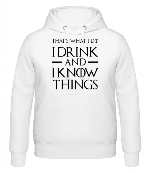 I Drink And I Know Things - Hoodie - White - Vorn