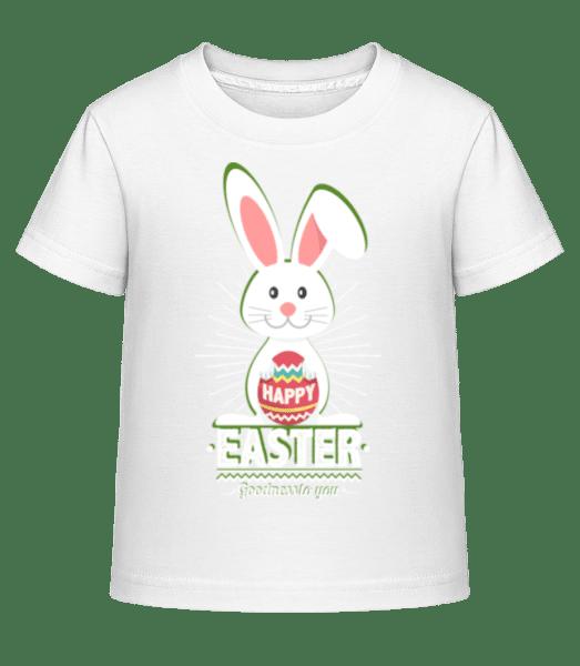 Happy Easter Logo - Kid's Shirtinator T-Shirt - White - Front