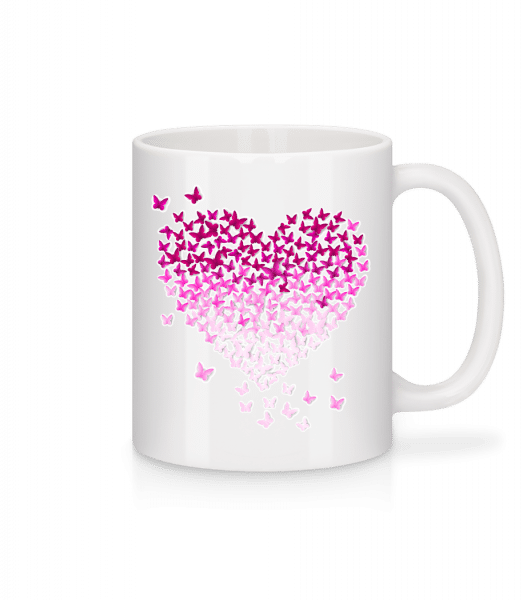 Butterfly Heart - Mug - White - Vorn