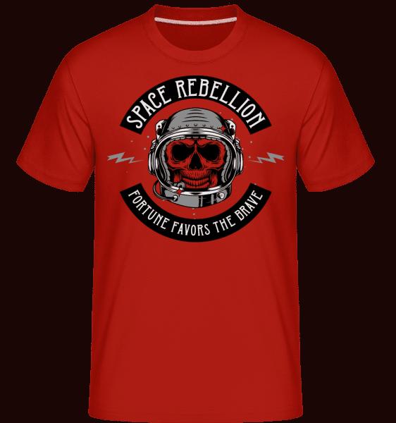 Space Rebellion -  Shirtinator tričko pro pány - Červená - Napřed