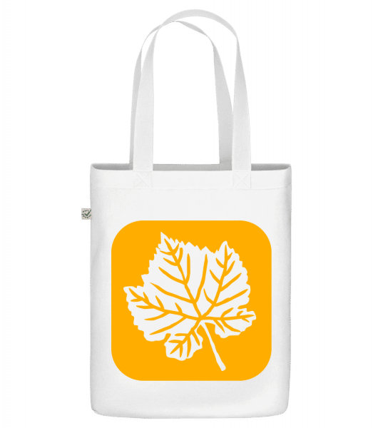 "Autumn Leaf - Organic ""Earth Positive"" tote bag - White - Front"