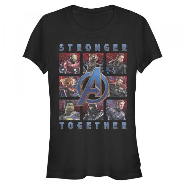 Boxes full of Avengers Group Shot - Marvel Avengers Endgame - Women's T-Shirt - Black - Front