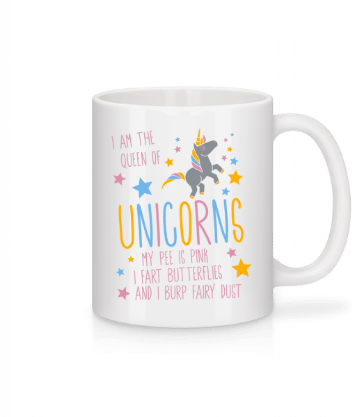 I'm The Queen Of Unicorns - Mug - White - Vorn