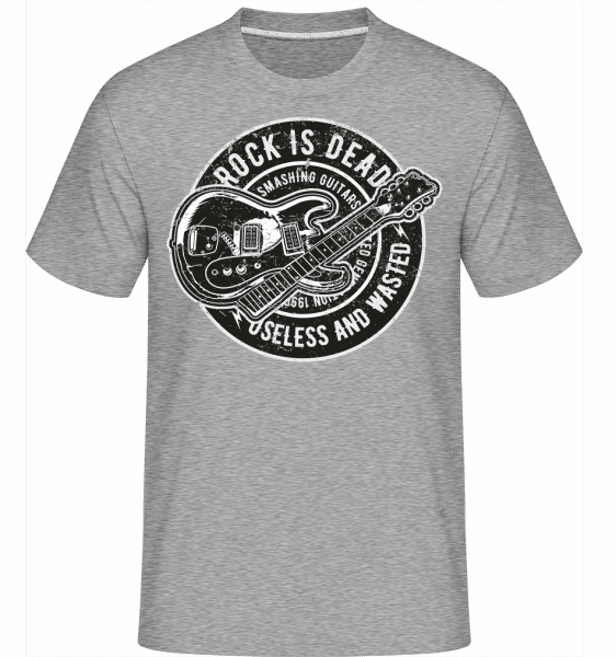 Rock Is Dead -  Shirtinator Men's T-Shirt - Heather grey - Vorn