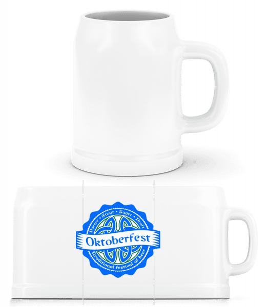 Traditional Festival Of Beer - Beer Mug - White - Vorn