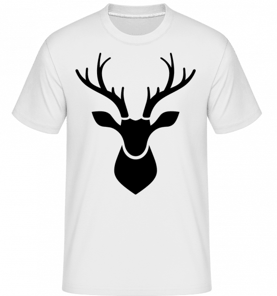 Deer Shadow -  Shirtinator Men's T-Shirt - White - Vorn