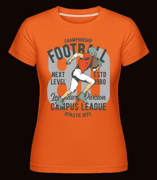 Champion Football -  Shirtinator Women's T-Shirt - Orange - Vorn
