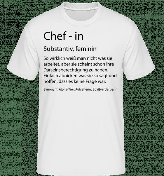 Chefin Quatsch Duden - Shirtinator Männer T-Shirt - Weiß - Vorn