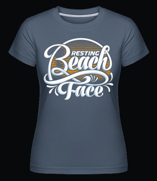 Resting Beach Face -  Shirtinator Women's T-Shirt - Denim - Vorn