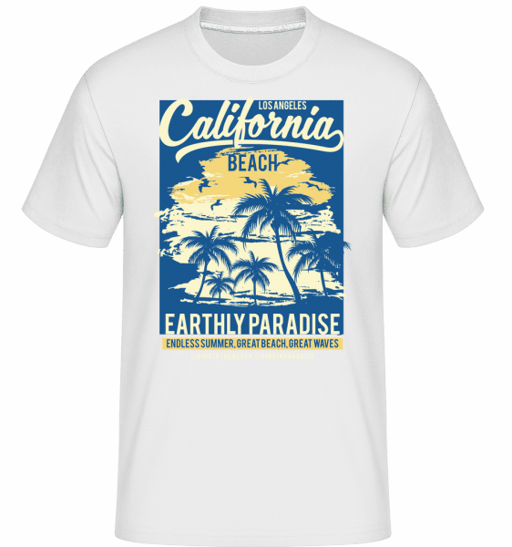 California Beach -  Shirtinator Men's T-Shirt - White - Front