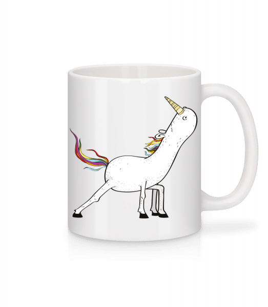Yoga Unicorn Stretched - Mug - White - Vorn