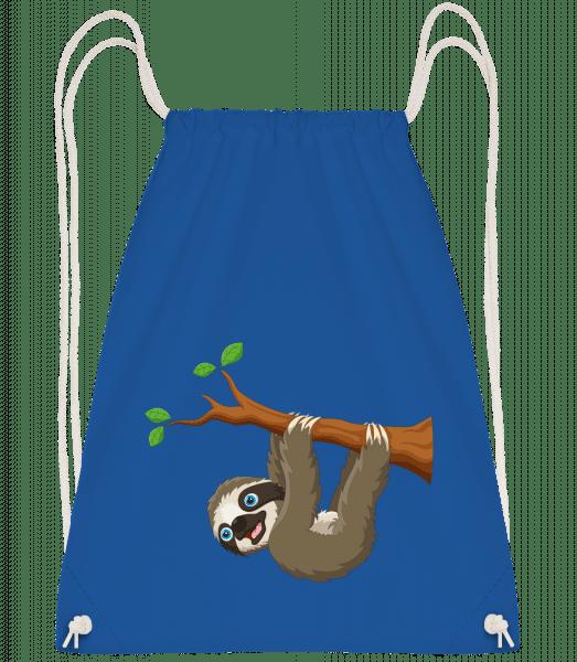 Cute Sloth Hanging On A Branch - Gym bag - Royal blue - Vorn