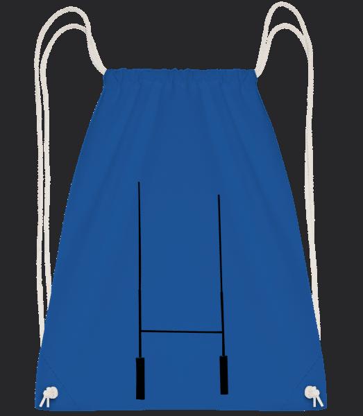 Football Goal - Drawstring Backpack - Royal Blue - Vorn